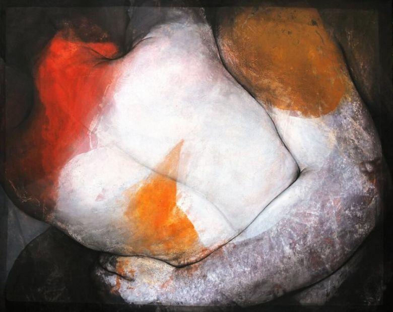 L'exposition propose des peintures d'Etienne Gros et des sculptures de Philippe Morel. / © Jas de la Rimade