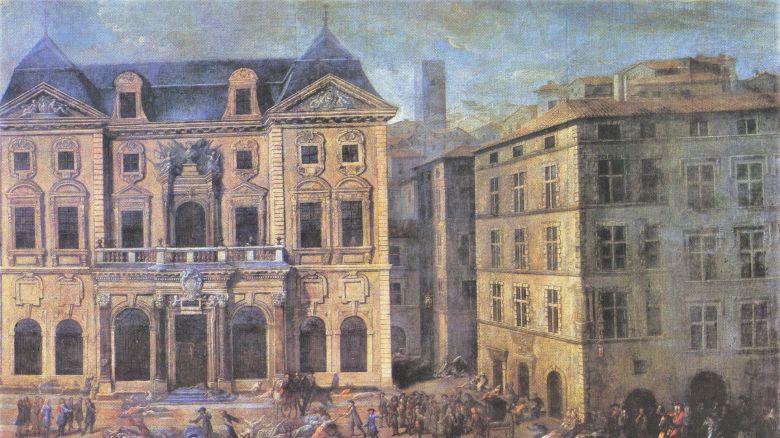 Vue de l'hôtel de ville pendant la peste à Marseille en 1720 par Michel Serre / © Huile sur toile. Musée des Beaux-arts. Marseille