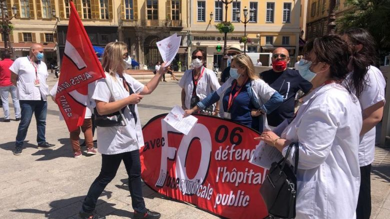 Manifestation à Nice ce jeudi 28 mai à l'appel du syndicat FO. / © Daniel Gerner FTV