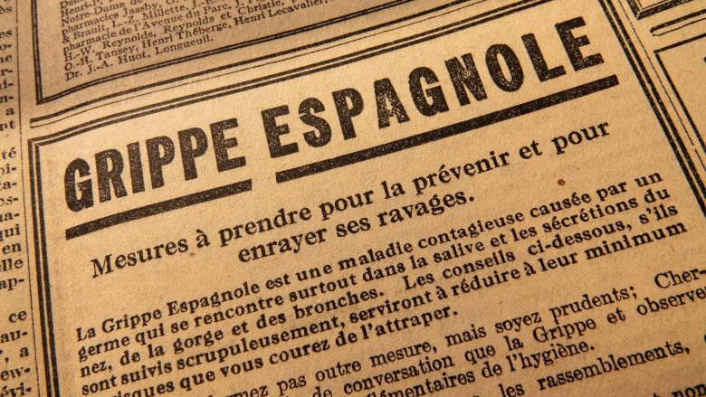 Plus de 200 000 personnes périront en France de la grippe espagnole selon certaines estimations. 50 millions dans le monde. / © Archives