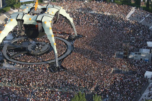 Le concert de U2 au Palais Nikaia en 2009