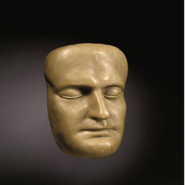 Masque mortuaire de Napoléon, en cire, par Archibald Arnott.