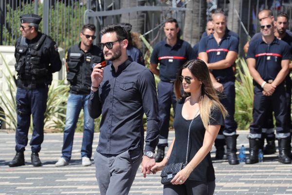 Le couple le 18 juillet 2016, lors de l'hommage aux victimes de l'attentat du 14 juillet.