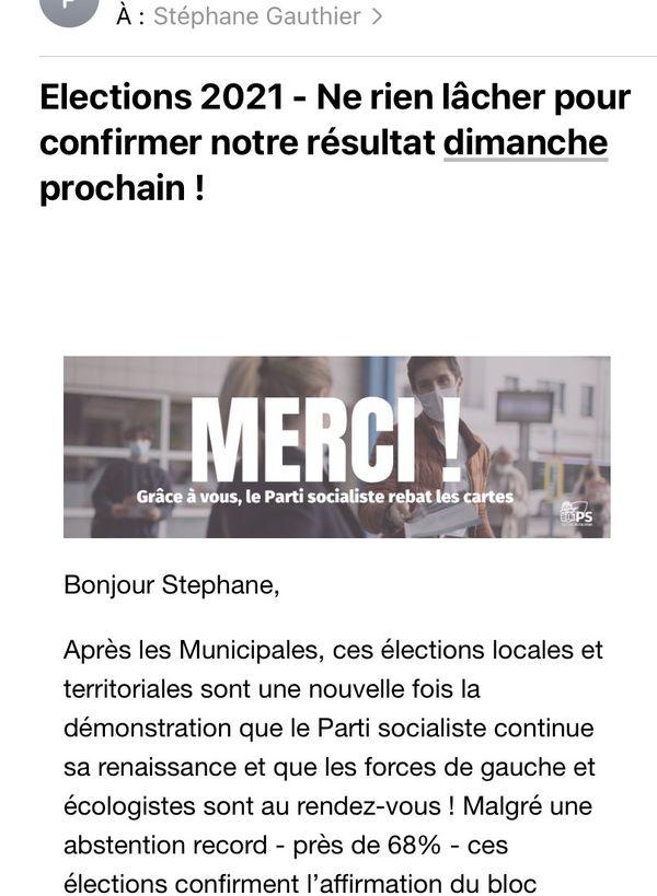 Un mail jugé inapproprié et humiliant par les militants socialises azuréens.