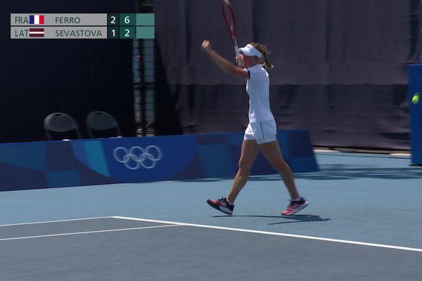 Fiona Ferro revient de loin pour finalement remporter son match du premier tour des Jeux Olympiques de Tokyo