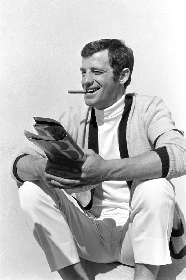 Jean-Paul Belmondo sur le tournage de Tendre Voyou à Nice en 1966.